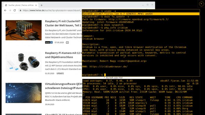 OpenBSD 6.7 mit Raspberry Pi 4- und Pinebook Pro-Unterstützung
