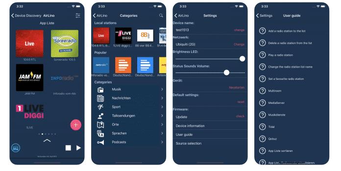 Lautsprecher mit AirLino lassen sich auch per App einrichten und ansteuern.