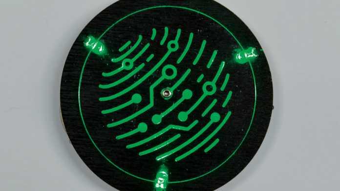 LED-Badge mit Leiterbahnen aus Kupferfolie