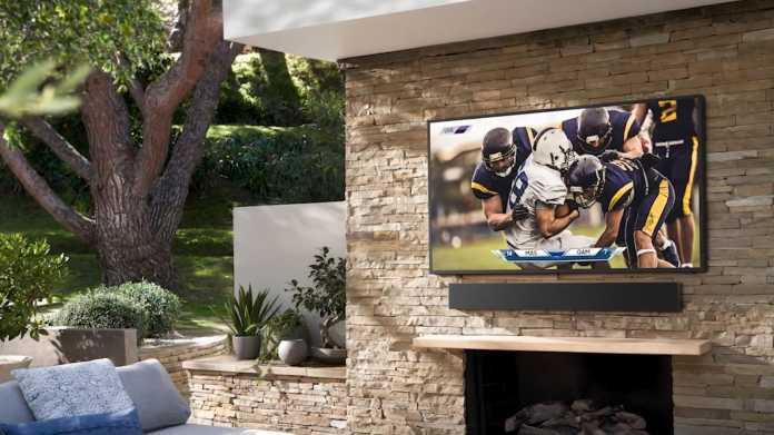 The Terrace: Samsungs leuchtstarker Outdoor-Fernseher für zu Hause