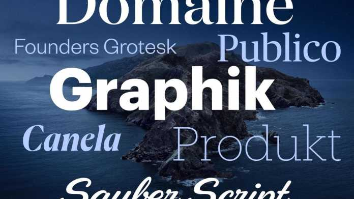Neue Gratis-Fonts in macOS Catalina