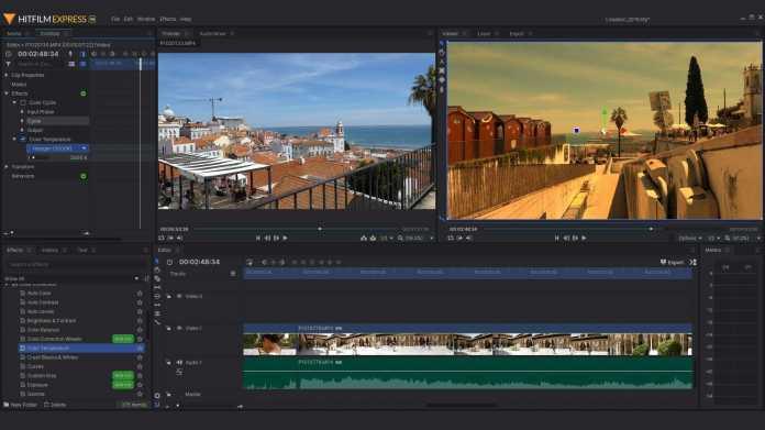 Kostenloses Schnittprogramm für Amateure und Engagierte: FXhome HitFilm Express 14