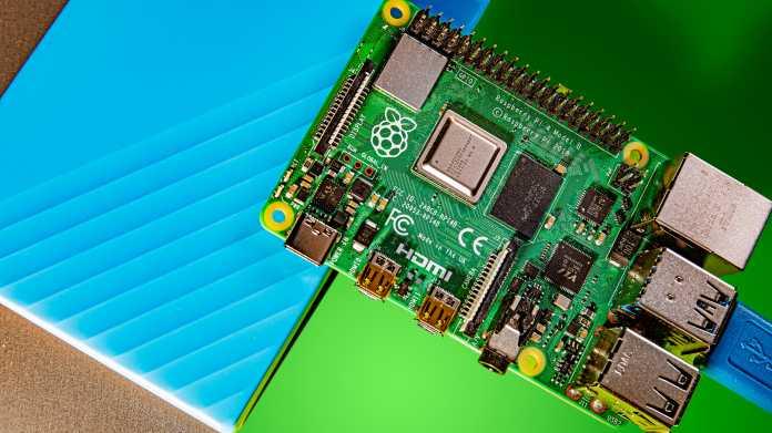 Einplatinencomputer: Raspberry Pi 4 mit 8 GByte RAM verfügbar