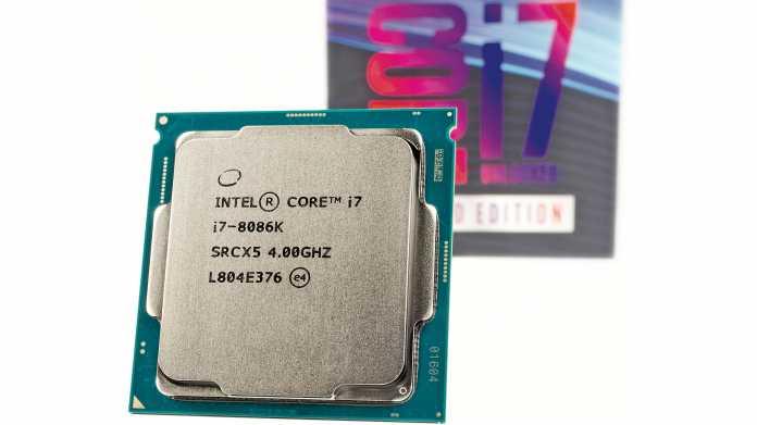 Desktop-Prozessoren: Intel lässt CPU-Serie Core i-8000 auslaufen