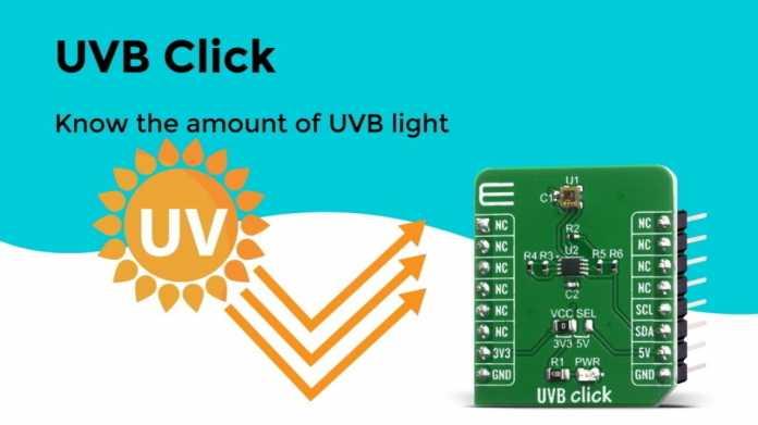 UVB Click: Sensor-Erweiterung für MikroE-Entwicklungsboards