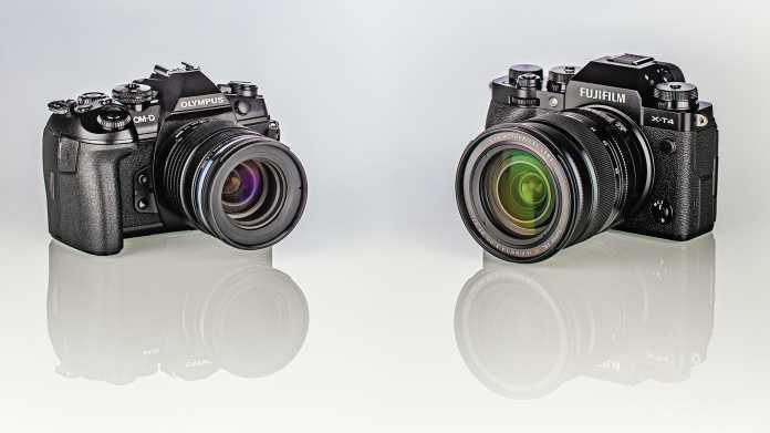 Schnelle spiegellose Systemkameras: Fujifilm X-T4 gegen Olympus OM-D E-M1 III