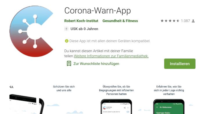 Neue Corona-Warn-App steht zum freiwilligen Herunterladen bereit