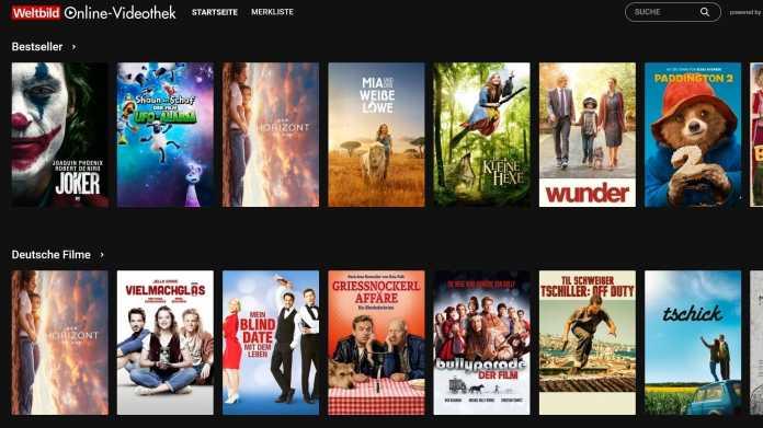 Weltbild startet Online-Videothek für Filme