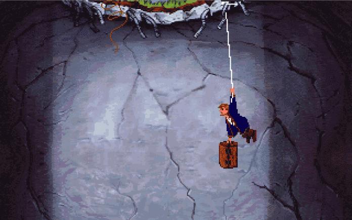 Geld weg, Frau Weg, kein Boden mehr unter den Füßen und das Leben hängt am seidenen Faden: Perfekter Auftakt für unseren Helden Guybrush Threepwood in sein zweites Piratenabenteuer.
