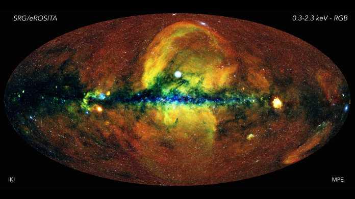 Röntgenteleskop eRosita: Erste komplette Himmelsdurchmusterung abgeschlossen