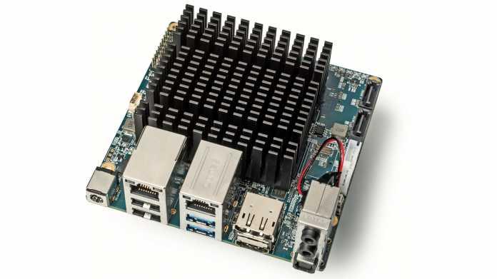 Einplatinencomputer Odroid-H2 mit x86-CPU und 2 × Gigabit-Ethernet