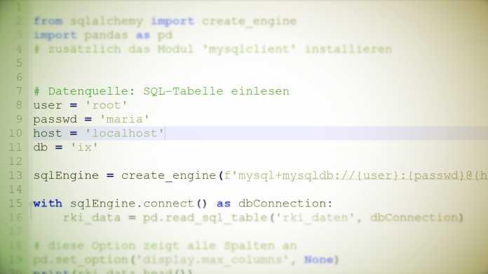 Daten verarbeiten mit Python: Pandas für SQL-Umsteiger