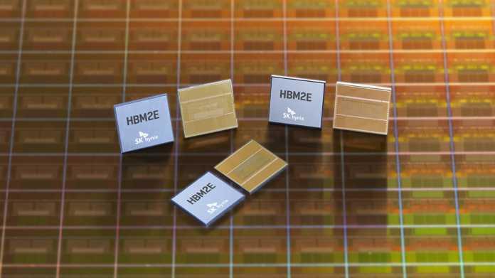 DRAM-Stapelspeicher: SK Hynix' HBM2E erreicht 460 GByte/s pro Stack