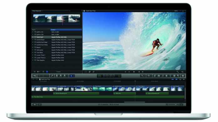 Klassisches MacBook Pro mit Retina-Display macht die Biege