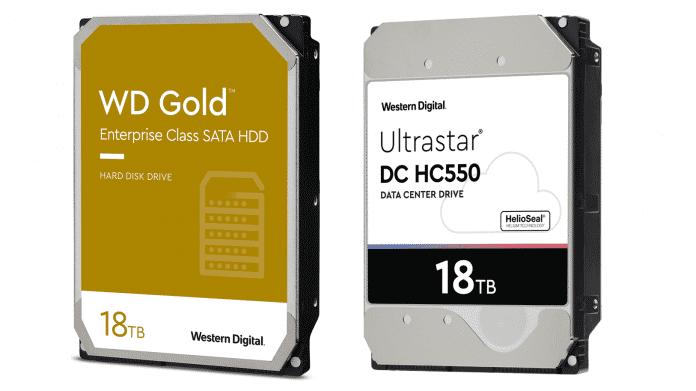 18-TByte-Festplatten: WD Gold und Ultrastar DC HC550 verfügbar