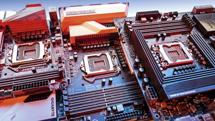 High-End-Mainboards mit Z490-Chipsatz für Core i-10000