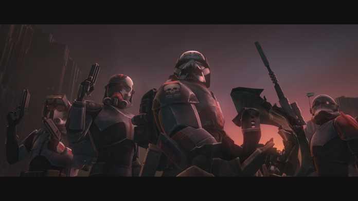 """Die Kloneinheit 99 aus """"Star Wars: The Clone Wars"""". Sie unterscheidet sich optisch klar von anderen Kloneinheiten."""
