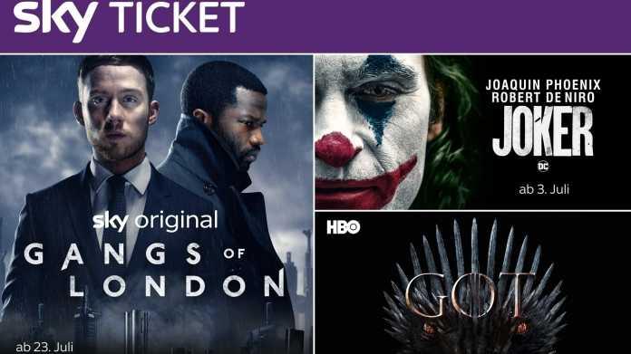 Streaming: Neues Sky Ticket kombiniert Filme und Serien