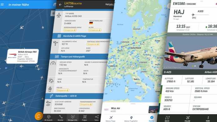 Flight-Tracking-Dienste im Vergleich
