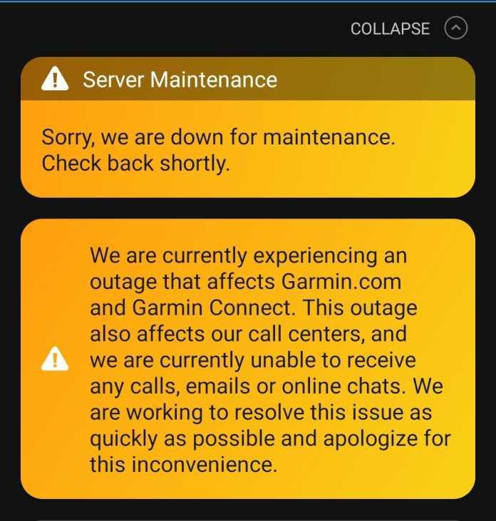 Garmin Outage