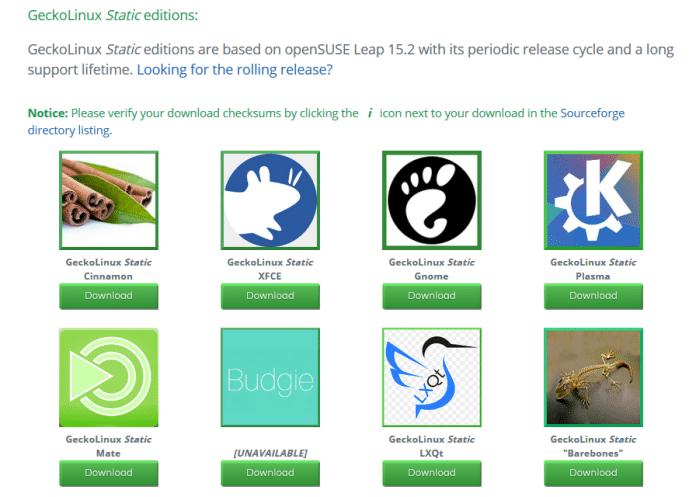 """Als Desktop-Umgebungen stehen derzeit Cinnamon, XFE, Gnome, Plasma, Mate, LXQt sowie die """"BareBones""""-Edition für erfahrenere Nutzer zur Wahl."""