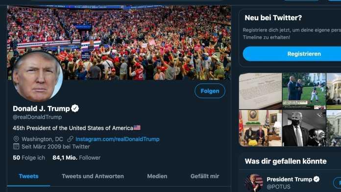 """""""Ich liebe Twitter – manchmal zu sehr"""": Trump bedauert manche seiner Tweets"""