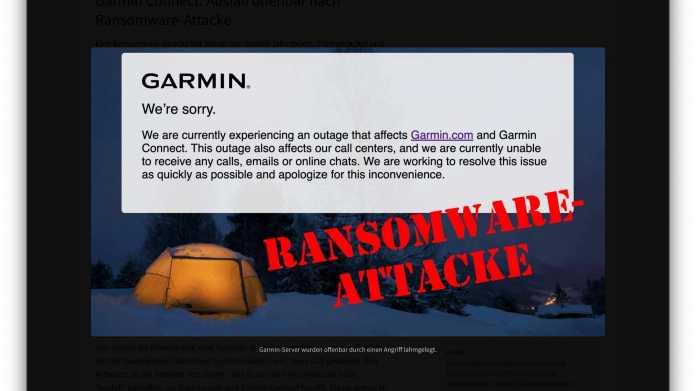 Ausfall von Garmin-Diensten und -Support: Firma wohl Opfer von 'WastedLocker'