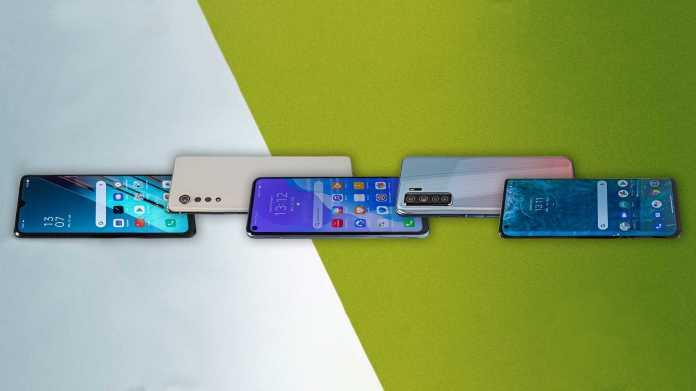 5G-Smartphones von Huawei, LG, Motorola, Oppo und Samsung