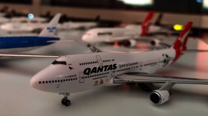 Boeing-747-Modell in Qantas-Livery