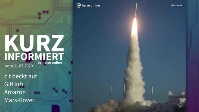 Kurz informiert: c't deckt auf, GitHub, Amazon, Mars-Rover