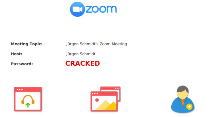 Zoom-Meeting-Passwörter geknackt