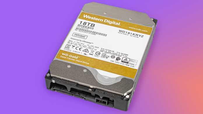WD Gold: Festplatte mit 18 TByte Speicherkapazität