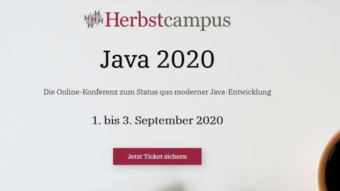 Jetzt Frühbucherrabatt für die Java-Ausgabe des Online-Herbstcampus sichern!