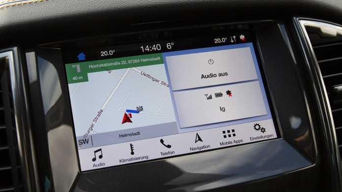 """Fords Infotainment-Lösung """"Sync 3"""" (hier im Ford Ranger) ist ein typisches Beispiel einer Mittelkonsole auf QNX gebaut."""