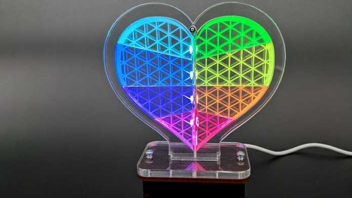 Leuchtendes LED-Herz