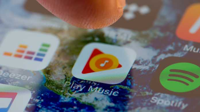 Musikstreaming: Google schaltet Play Music schrittweise ab