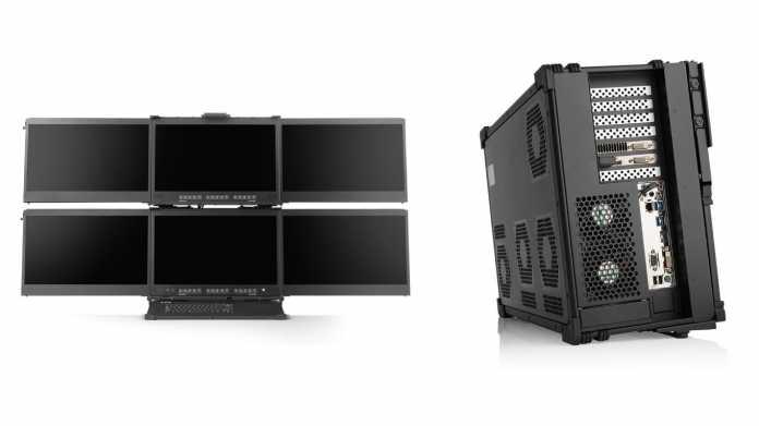 Mediaworkstations a-X2P: Koffer-PC mit bis zu 128 Zen-2-Kernen und 6 Displays
