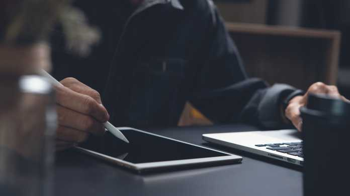 Schreiben auf dem Tablet