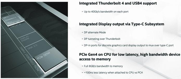 Tiger Lake bringt mit USB 4, Thunderbolt 4 und PCIe 4.0