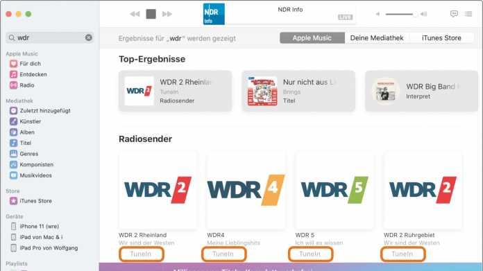 Tipp: Radiosender in Apples Musik-App kostenlos hören
