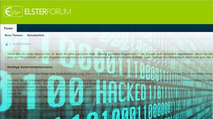 Elster-Anwenderforum: Angreifer griffen über Sicherheitslücke Nutzerdaten ab