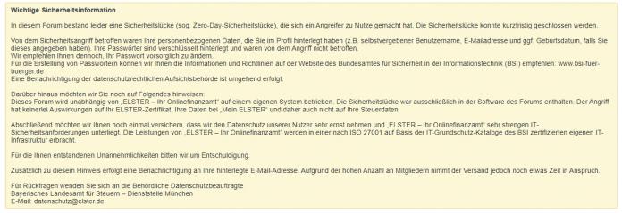 forum.elster.de