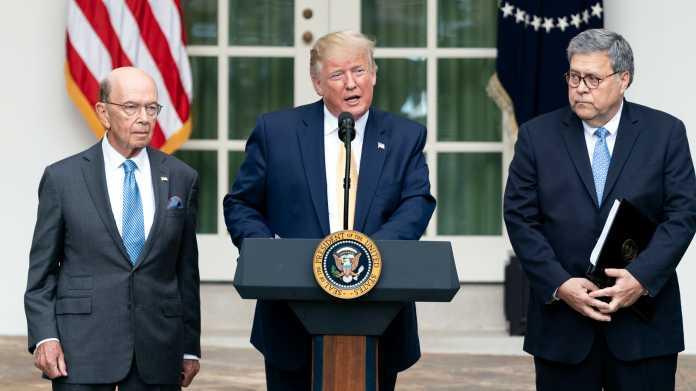 Wilbur Ross, Donald Trump, William Barr