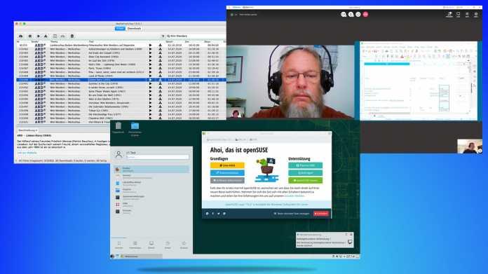 Kurztests: Linux-Distribution, Suchhilfe für Mediatheken, Videokonferenzdienst