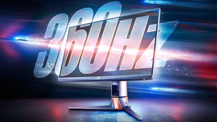Asus ROG Swift PG259QN: Erster 360-Hertz-Monitor in den Startlöchern