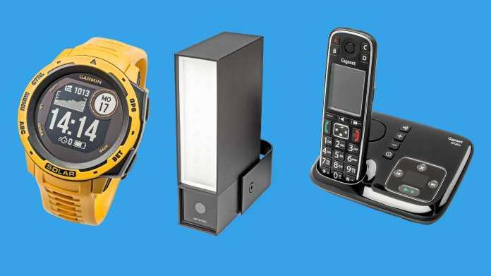 Kurztests: Solar-Sportsuhr, WLAN-Kamera mit Sirene und Flutlicht und DECT-Telefon