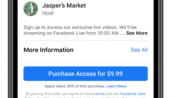 Facebook: Apple duldetkeinen Erwähnung seiner 30-Prozent-Provision