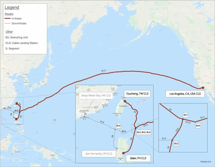 Das PCLN soll nun nur noch San Francisco mit Taiwan und den Philippinen verbinden.
