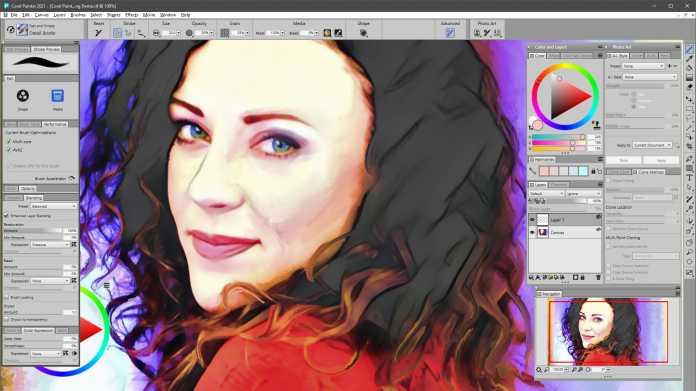Malprogramm Corel Painter 2021 mit besserer Performance