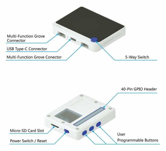 Kompakt-RasPi mit Display: Wio Terminal von Seeedstudio